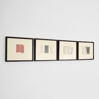 4 Robert Mangold Woodcuts, Signed Editions
