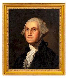 After Gilbert Stuart, (19th Century), Portrait of George Washington