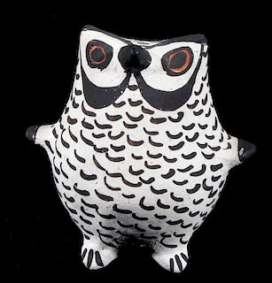 Acoma Polychrome Pottery Owl Figure Effigy c. 1900