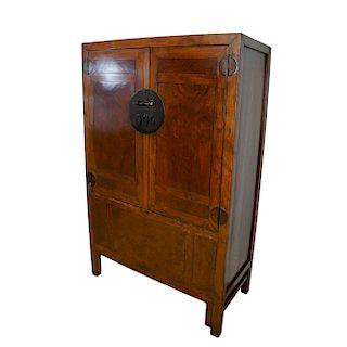 Chinese Elmwood Cabinet