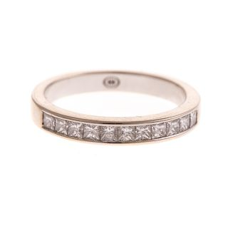 A Diamond Band in 14K by Christopher Designs