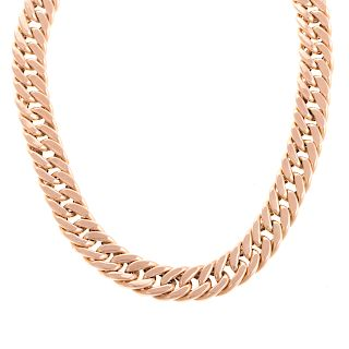 A Ladies 14K Rose Gold Curb Link Chain Necklace