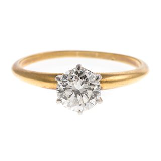 A Vintage Tiffany & Co Diamond Engagement Ring