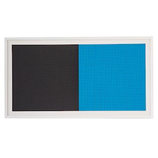 """Sol LeWitt. """"Grids and Color-Plate #10,"""" serigraph"""