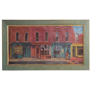 Jacob Glushakow. Street Demolition, Baltimore, oil