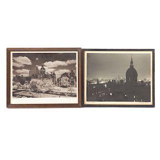 A. Aubrey Bodine. Two photographs of Johns Hopkins