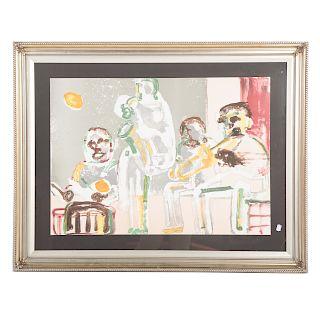 """Romare Bearden.""""Tenor Sermon"""" from the Jazz Series"""