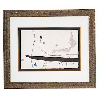 Joan Miro. Untitled, etching and aquatint