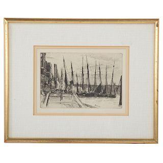 "James A.M. Whistler. ""Billingsgate,"" etching"