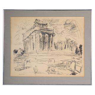 """Oskar Kokoschka. """"Aegina II,"""" lithograph"""