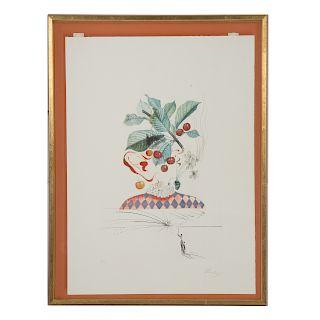 """Salvador Dali. """"Les Fruits-Cerises Pierrot"""""""