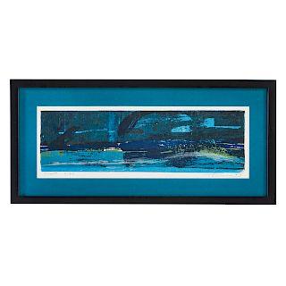 "Wayne Thiebaud. ""Coast,"" color screenprint"