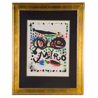 "Joan Miro. ""Joan Miro Graphics,"" color lithograph"
