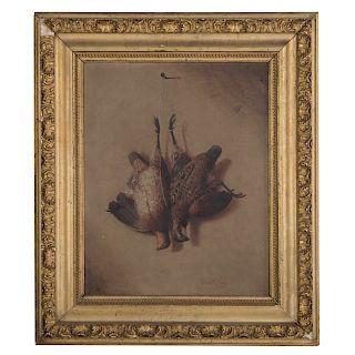 Richard LaBarre Goodwin. Hanging Game, oil