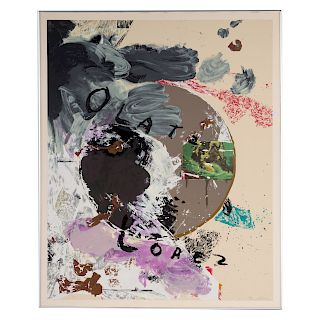 "Julian Schnabel. ""Olatz Lopez,"" color serigraph"
