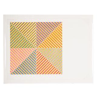 """Frank Stella. """"Sidi Ifni,"""" color lithograph"""