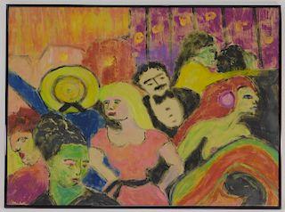 20C European Post Impressionist Symbolist Painting