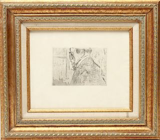 "Edouard Vuillard ""Theo Van Rysselberghe"" Etching"