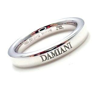 Damiani 18k White Gold 3.5mm Band Ring Sz 6.5