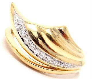 Damiani 18k Yellow Gold Diamond Ring