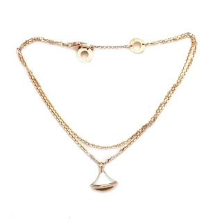 Bulgari 18k Rose Gold Bell Diva Dream Mother of Pearl
