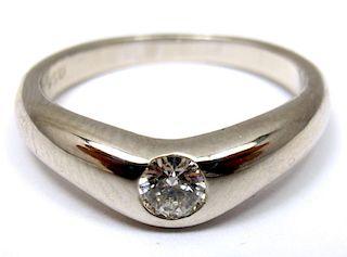 TIFFANY & Co. PLATINUM PERETTI DIAMOND 0.18ct BAND RING