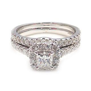 Neil Lane 14k White Gold Diamond Solitaire Engagement