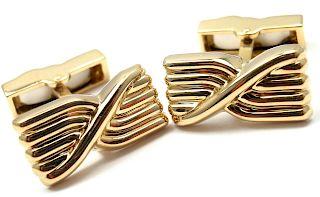 Vintage Tiffany & Co 18k Yellow Gold Cufflinks