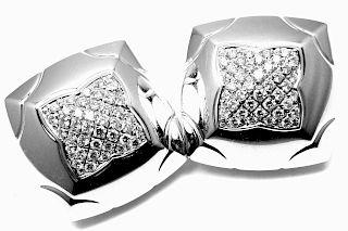 Bulgari Piramide 18k White Gold Diamond Large Earrings