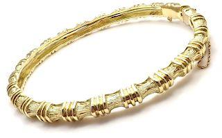 Vintage Tiffany & Co 18k Yellow Gold Bamboo Bangle