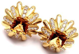 Cartier Aldo Cipullo 18k Yellow Gold Diamond Citrine