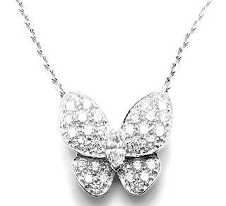 Van Cleef & Arpels 18k White Gold Diamond Butterfly