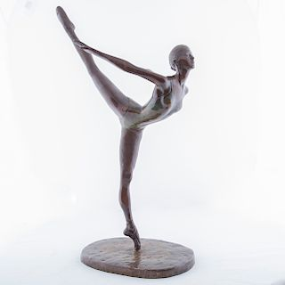 Firmado F. Camarno. Bailarina. Fundición en bronce patinado, 3/25.