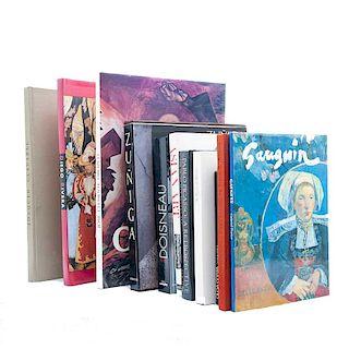 Lote de libros sobre arte de México, europeo y asiático. Siglo XX. Víctor Gutiérrez, escultor. México: UAEM, 1996. Piezas: 9