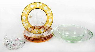 Enameled, EngravedCut to Clear Tableware