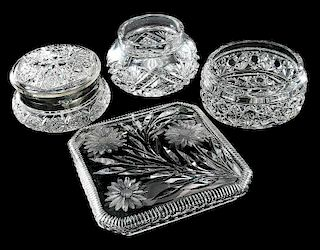 Four Cut Glass Table Items
