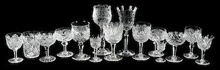 15 Cut Glass Goblets/Tumbler