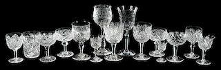 15 Cut Glass Goblets/Tumbler