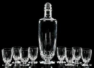R. Lalique Art Deco Style Decanter, Cordials