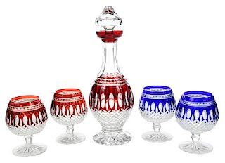 Waterford Cut Glass Brandy Set