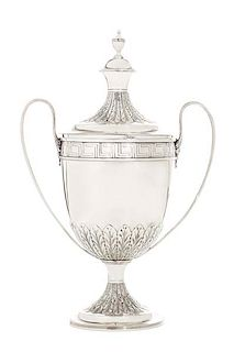 A George III sterling silver covered cup, Bateman
