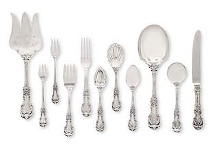 A Reed & Barton Burgundy silver flatware set
