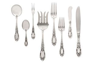 Towle King Richard pattern silver flatware set
