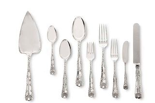 A Tiffany & Co Wave Edge silver flatware set