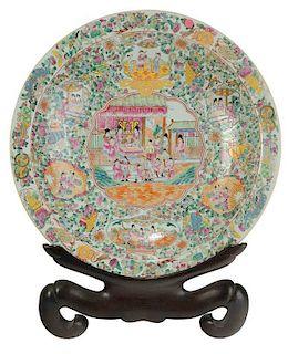 Monumental Famille Rose Porcelain Charger