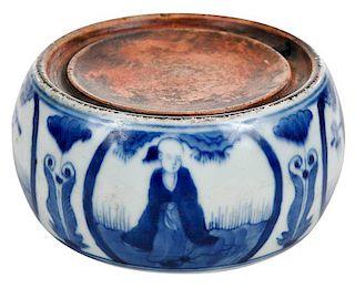 Kangxi Blue and White Porcelain Ink Stone