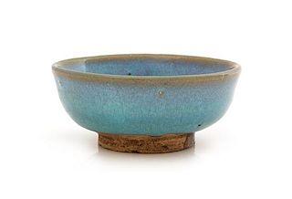 A Junyao Lavender-Blue Glazed Stoneware Bowl Diameter 3 7/8 inches.