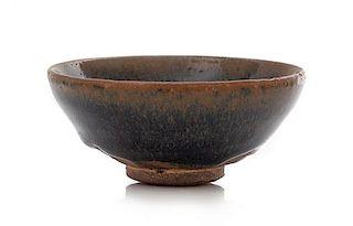 A 'Hare's Fur' Glazed Jian Tea Bowl Diameter 3 5/8 inches.