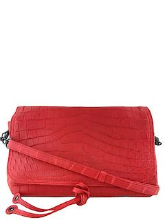2b556d391329 Bottega Veneta Crocodile Flap Bag Clutch with Strap · Consigned Designs
