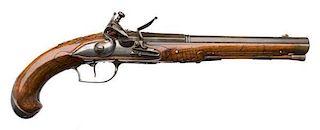 Flintlock Pistol, Marked Anton Pauly a Buckeburg